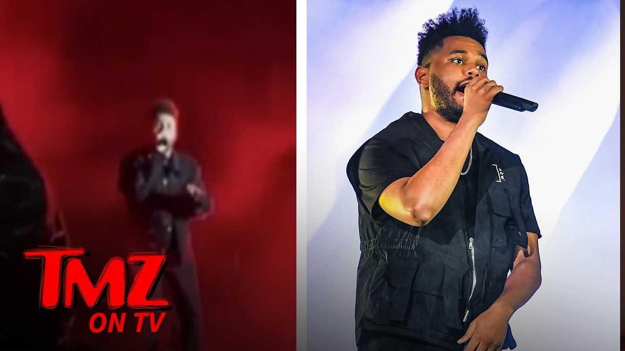 The Weeknd Almost Hit On Stage! | TMZ TV 2