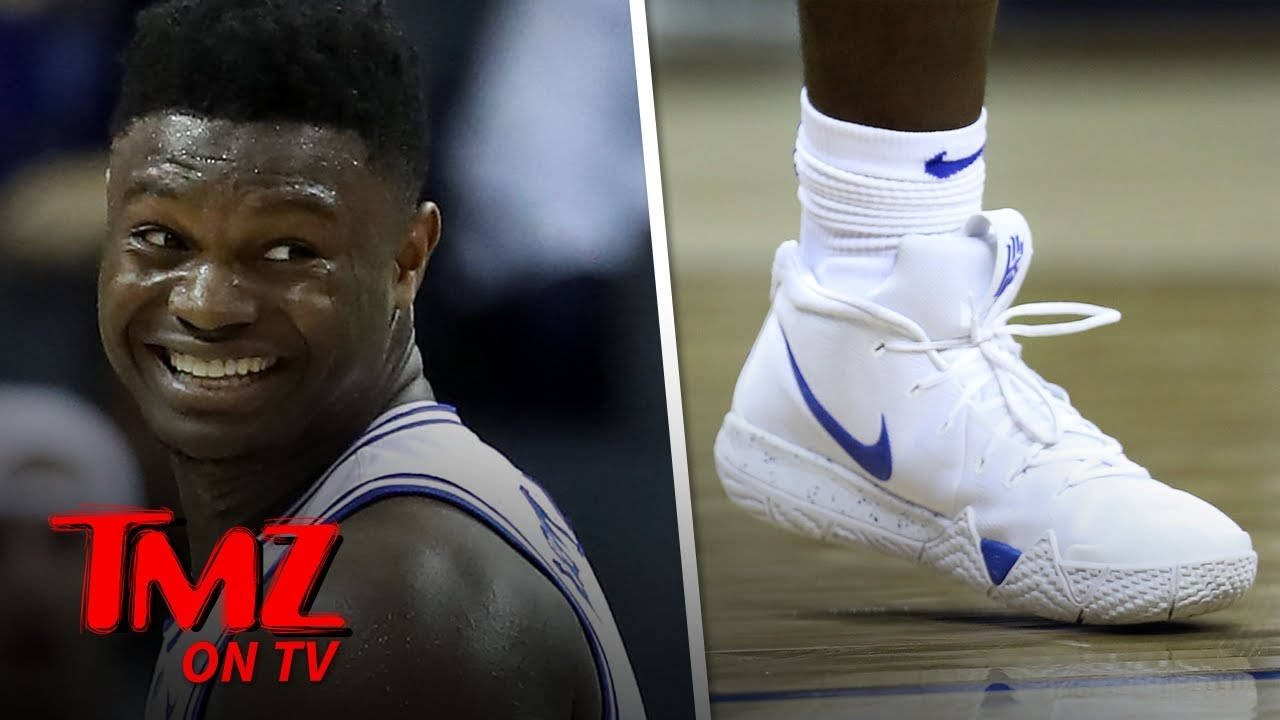 Zion Williamson Wears Nike Kyrie 4 Sneakers in Duke Return | TMZ TV 4