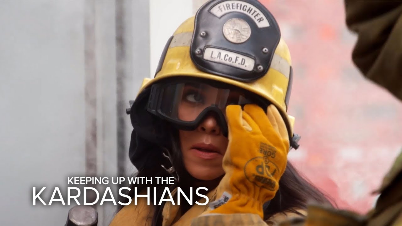 KUWTK | Kourtney Kardashian Fails as a Firefighter | E! 5