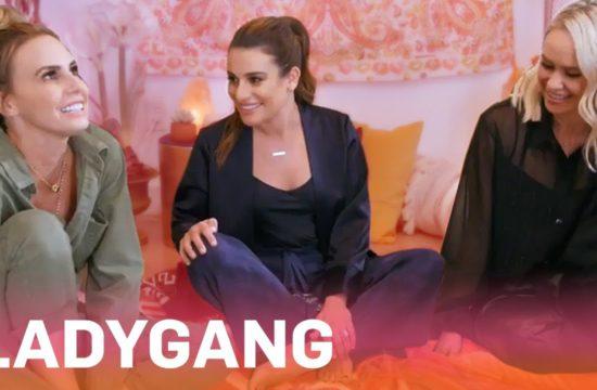 "Lea Michele Gets a Tarot Card Reading on ""LadyGang""   E! 12"