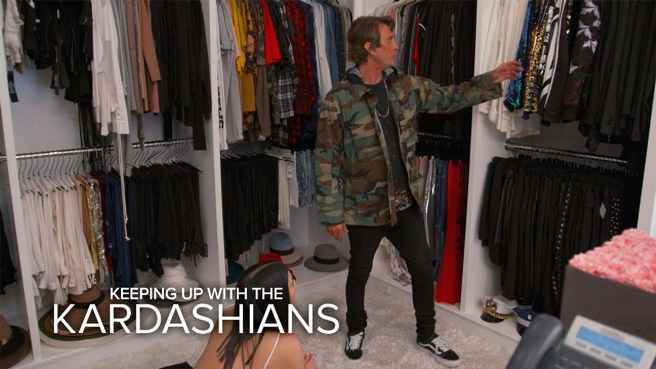 KUWTK | Kim Kardashian West & Jonathan Cheban Raid Khloe's Closet | E! 5