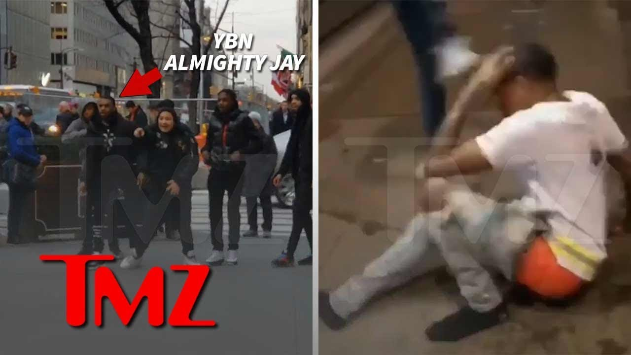 YBN Almighty Jay Gets Stomped in NYC Street Fight | TMZ 4