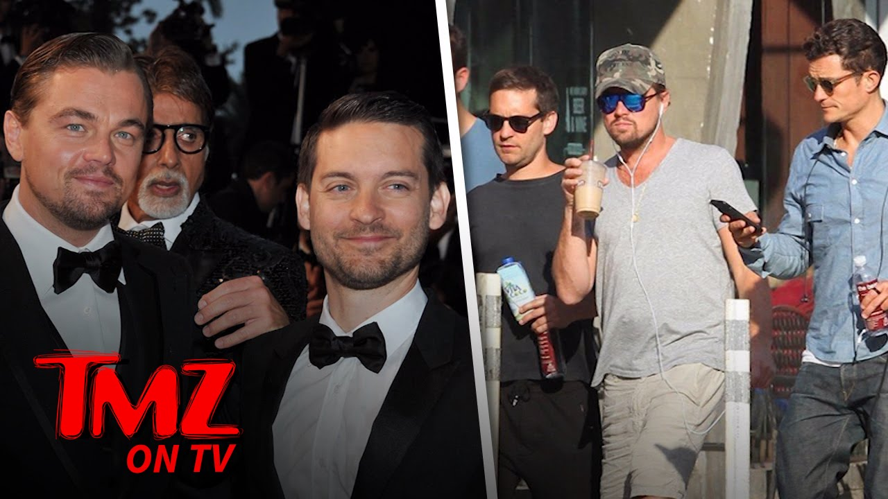 Leonardo DiCaprio and Tobey Maguire's Entourage Adds A New Friend | TMZ TV 1