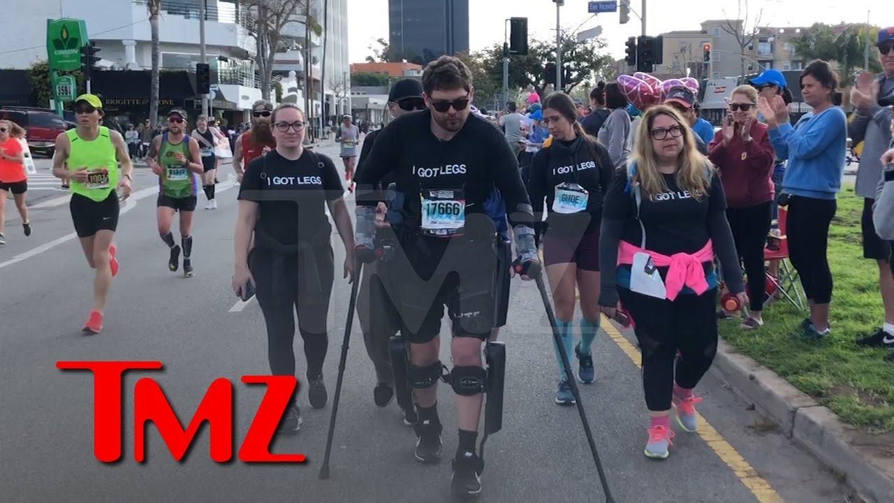 Paralyzed Man Adam Gorlitsky Walked 17.2 Miles at L.A. Marathon | TMZ 5