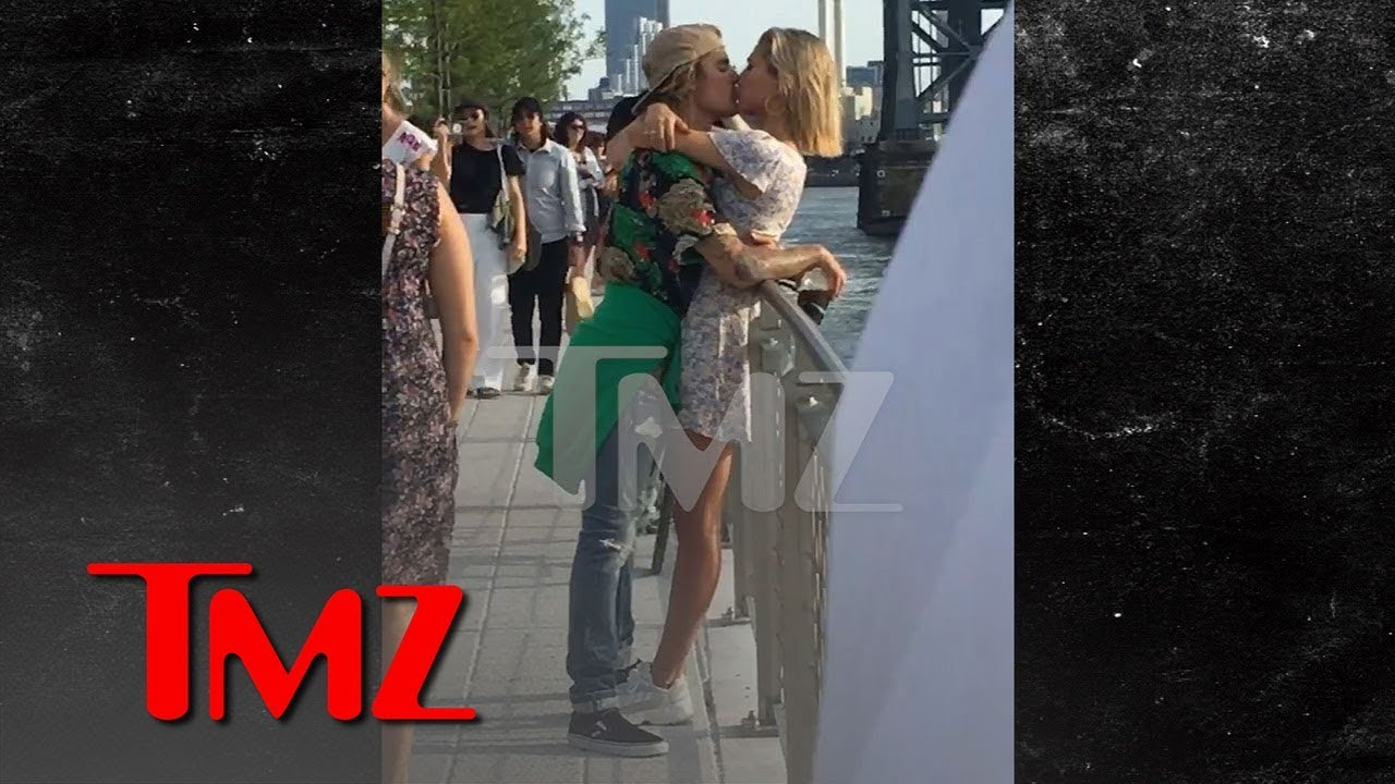 Justin Bieber and Hailey Baldwin Kissing in a Brooklyn Park 4