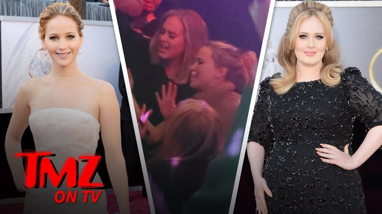 Adele & Jennifer Lawrence Take A Gay Bar By Storm | TMZ TV 1