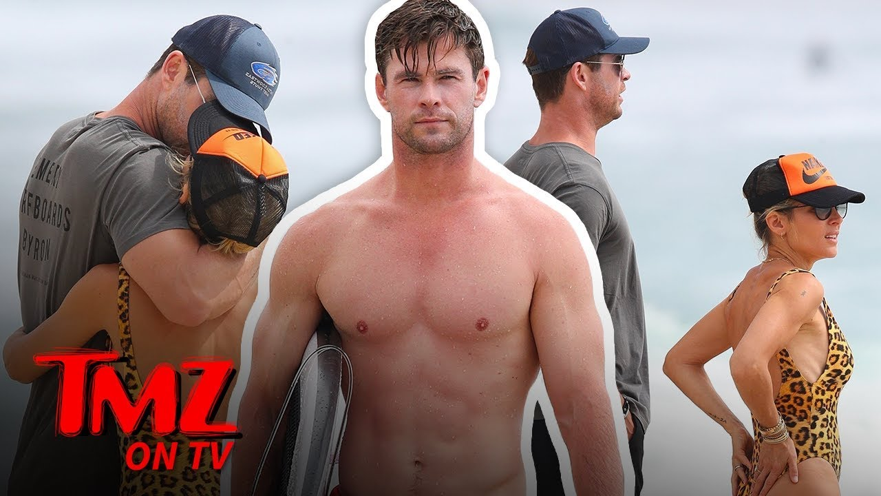 Chris Hemsworth's in Full PDA Mode with Wife Elsa Pataky in Australia | TMZ TV 1