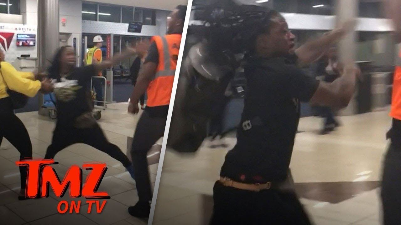 NFL Star In Wild Fight At Airport! | TMZ TV 5