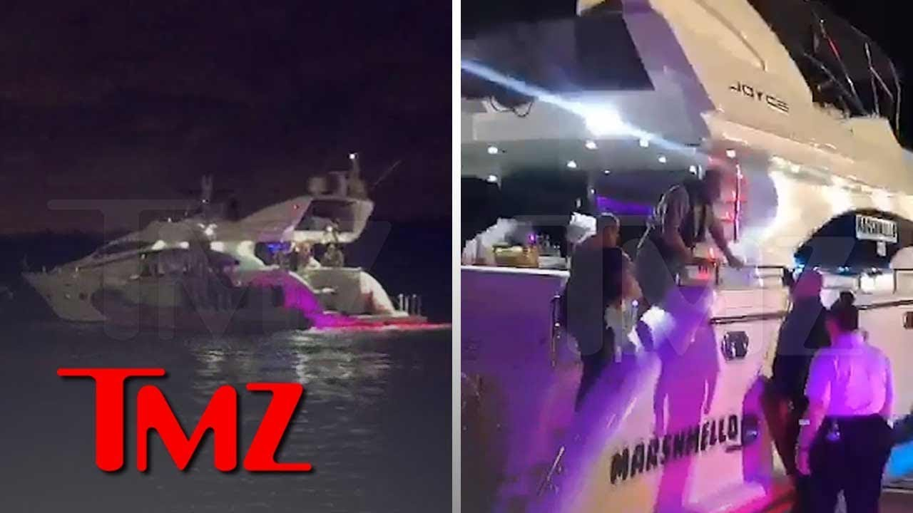 Marshmello's Party Boat Gets Surprise Inspection by Miami Coast Guard | TMZ 5