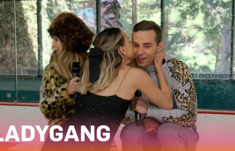Keltie & Becca Show Adam Rippon Their Skating Skills   LadyGang   E! 1