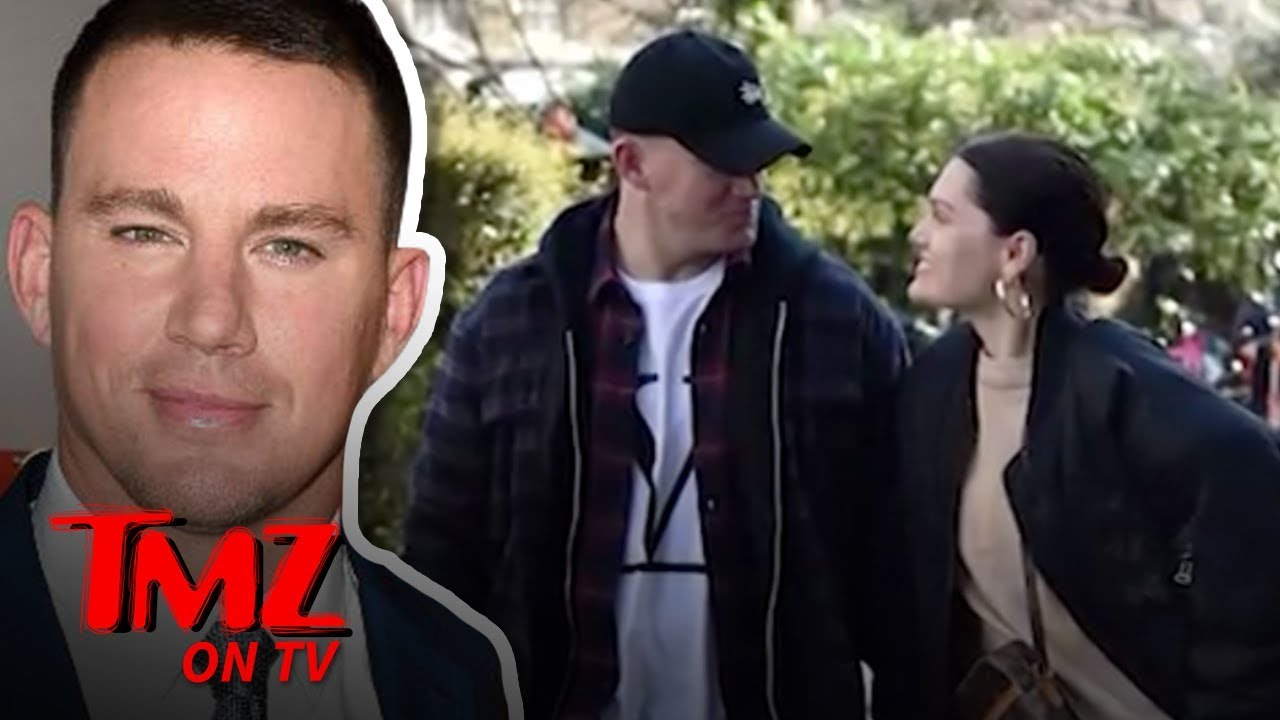 Channing Tatum Strolling Hand-in-Hand with Jessie J in London | TMZ TV 5