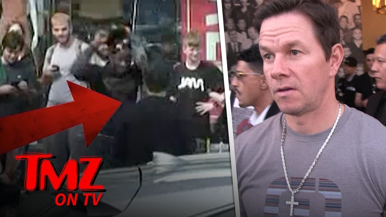 Mark Wahlberg Caught Sneaking Up On Street Performer In Hollywood | TMZ TV 1