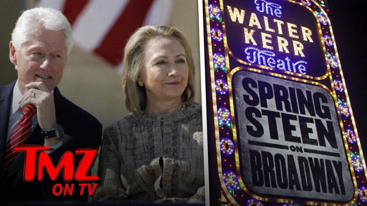 Hillary & Bill Hit Up A Springsteen Concert! | TMZ TV 5