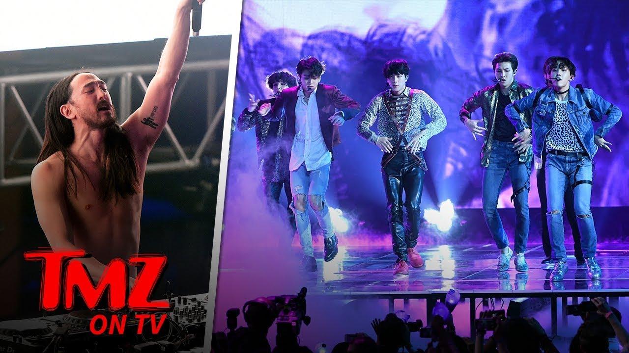 Steve Aoki Esctatic About His BTS Collab Going #1 | TMZ TV 4