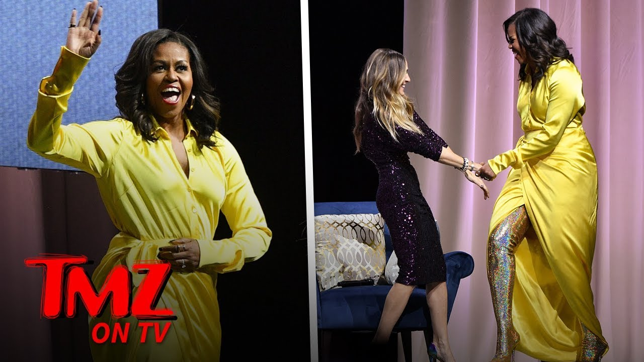 Michelle Obama Slays on Her Book Tour, Wearing Thigh High Balenciaga Boots | TMZ TV 5