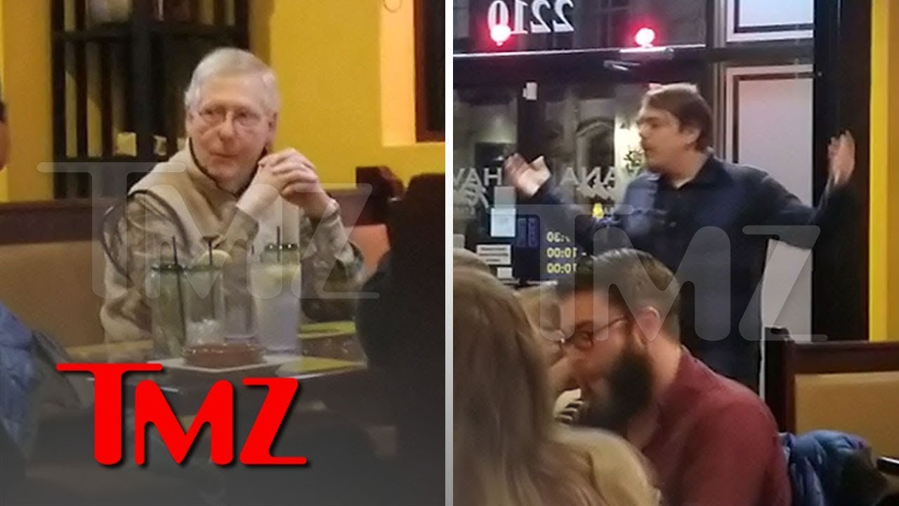 Senator Mitch McConnell Confronted at Restaurant by Angry Customers | TMZ 3