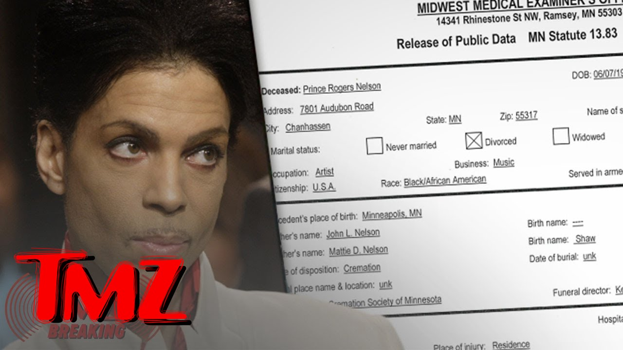 Prince -- Medical Examiner Says Fentanyl Overdose Caused Death | TMZ 4
