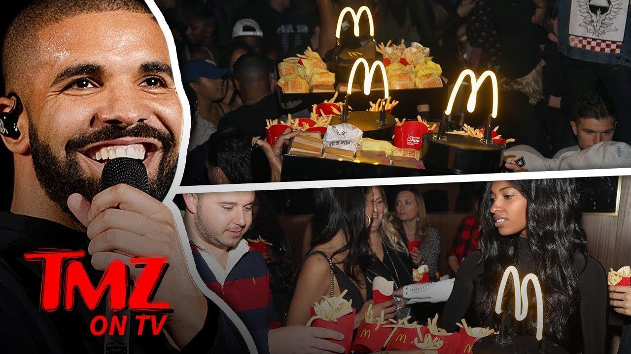 Drake Makes It Rain McDonald's In The Club! | TMZ TV 5