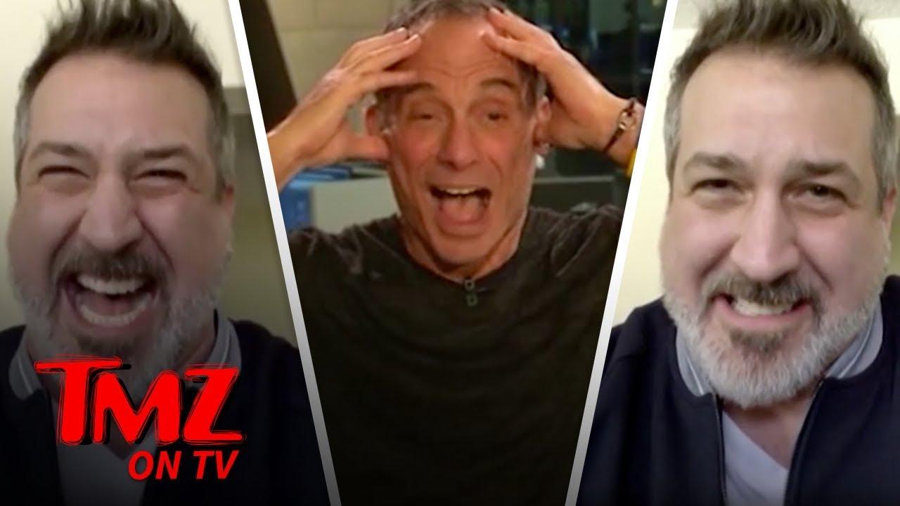 Harvey Thought Joey Fatone Was On The Backstreet Boys | TMZ TV 3
