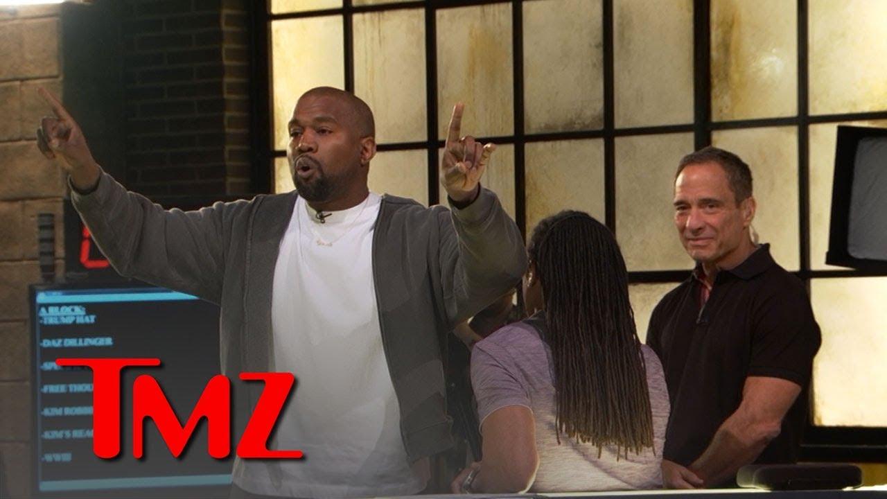 Kanye West Stirs Up TMZ Newsroom Over Trump, Slavery, Free Thought | TMZ 4