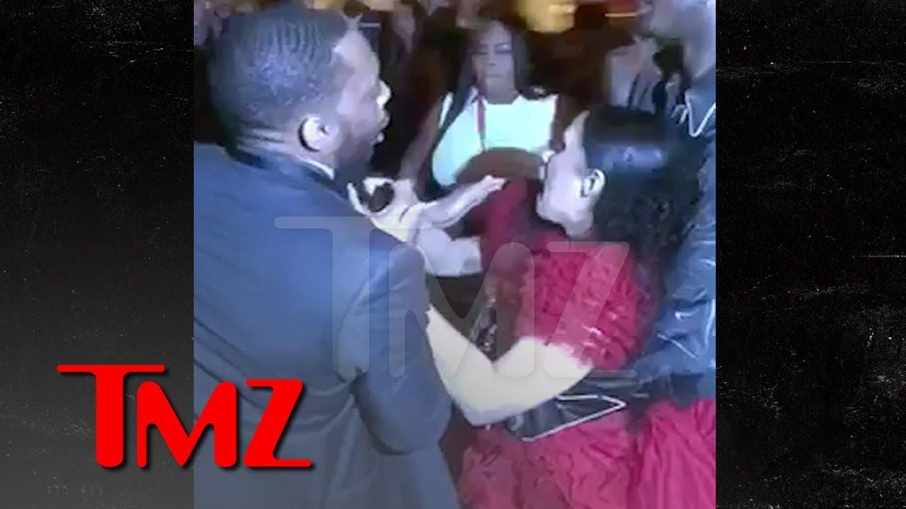 Cardi B Gets Lump on Head, Attacks Nicki Minaj, Throws Shoe, 'Calls Her P***y | TMZ 1