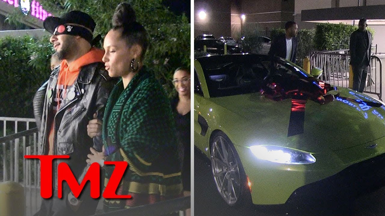 Alicia Keys Surprises Husband Swizz Beatz with Aston Martin for 40th Birthday | TMZ 1