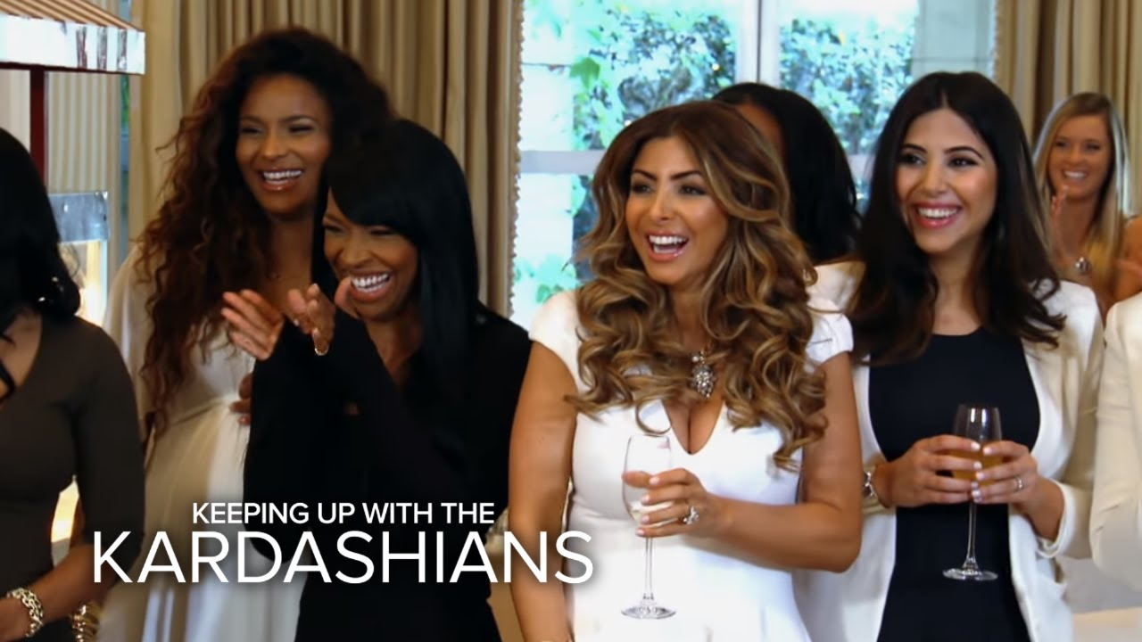 KUWTK | Kris Jenner Throws Kim the Ultimate Bridal Shower | E! 3