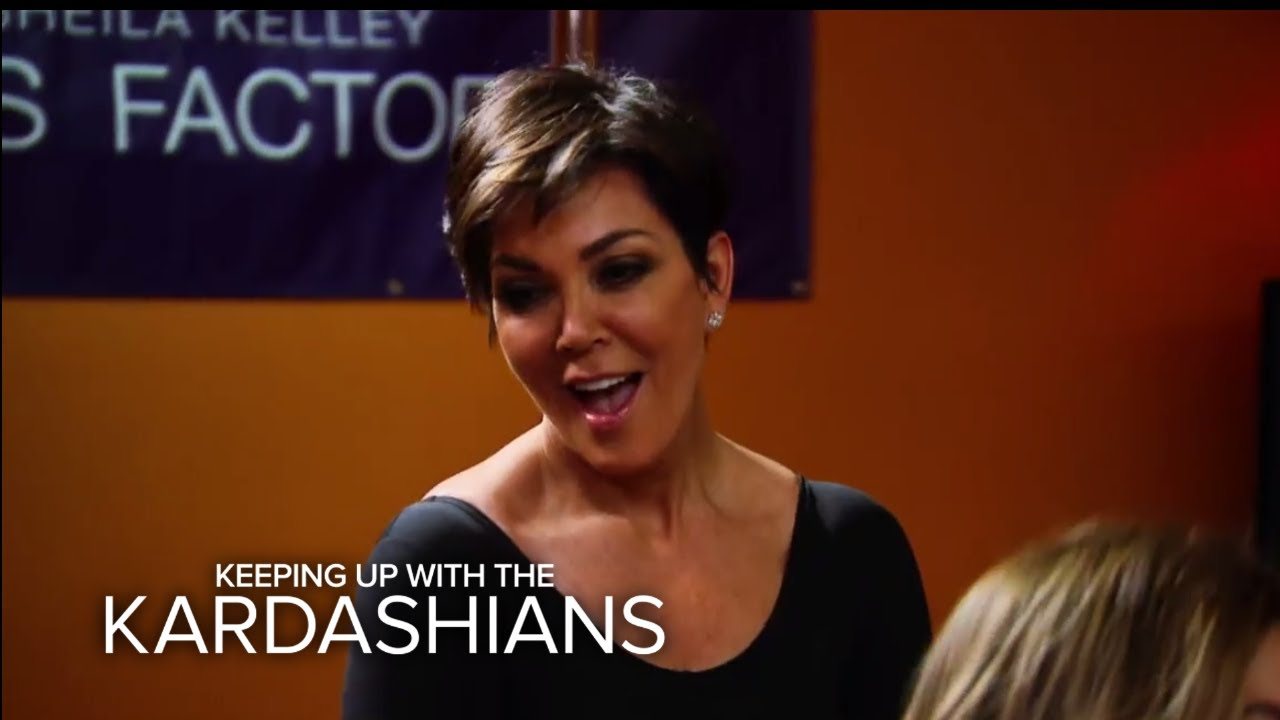 KUWTK | Kris Jenner Crashes Kim K.'s Pole Dancing Class | E! 5