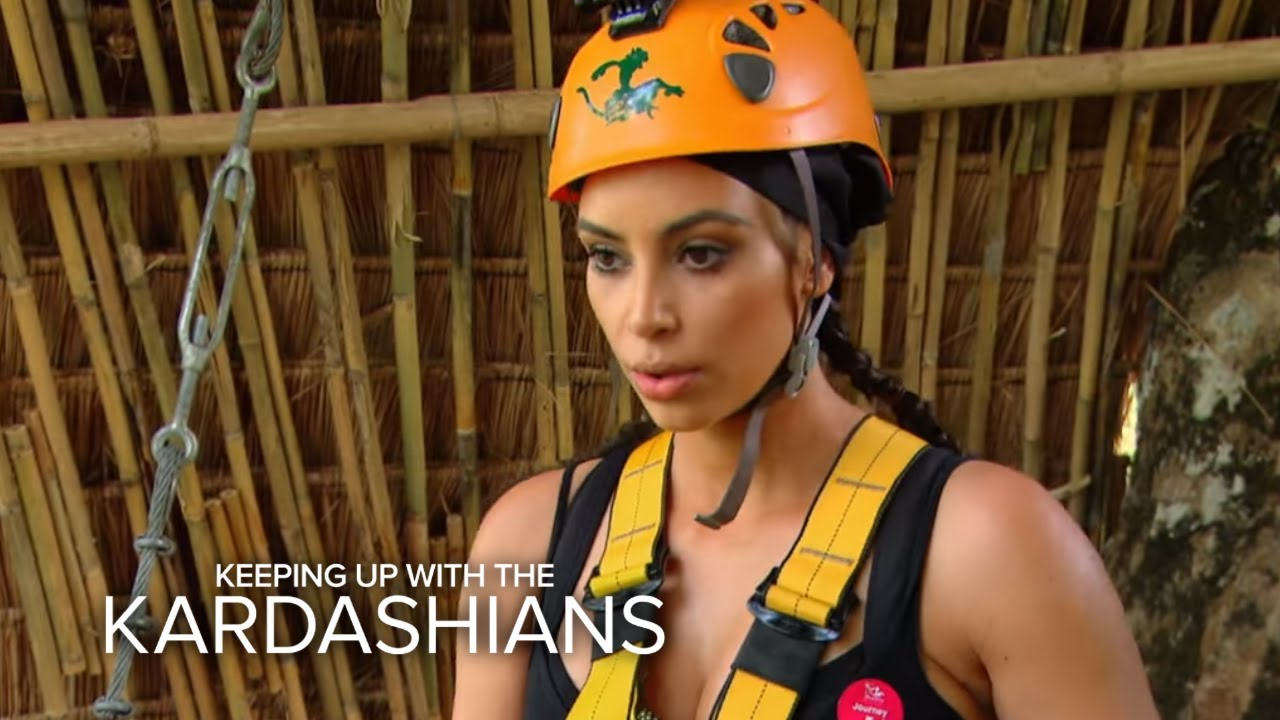 KUWTK | Kim Kardashian's High-Flying Freak-Out | E! 4