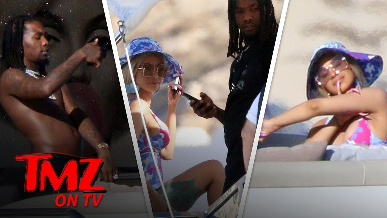 Cardi B and Offset Together on a Yacht in Mexico | TMZ TV 5