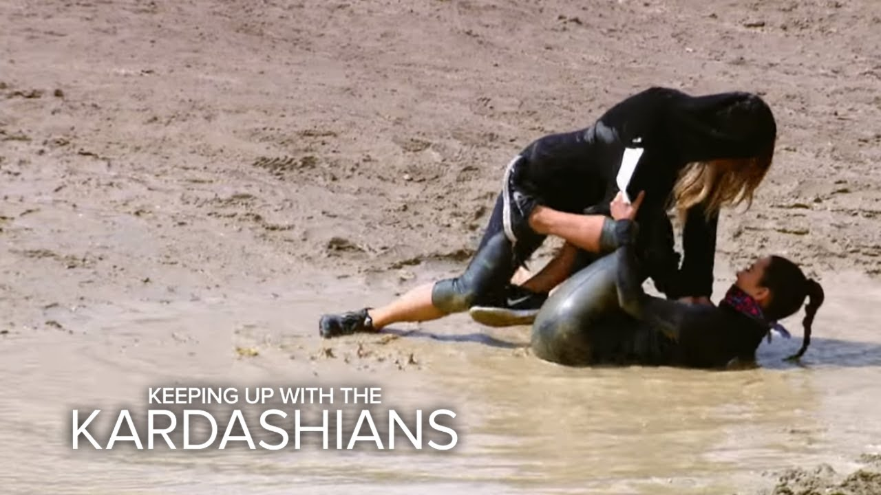 KUWTK | Khloé Tackles Kim on a Mud Run | E! 3