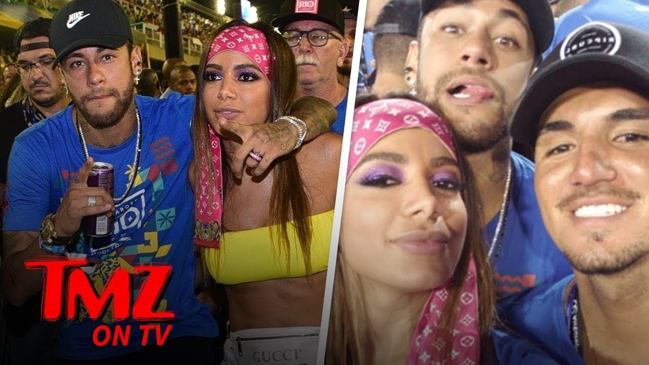 Neymar Hits Carnival With Smokin' Hot Brazilian Singer Anitta | TMZ TV 3