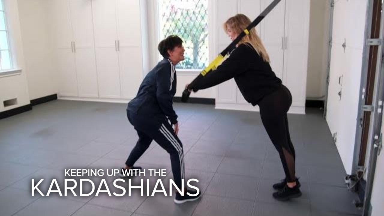 KUWTK | Kris Jenner Interferes With Pregnant Khloé's Workout | E! 2