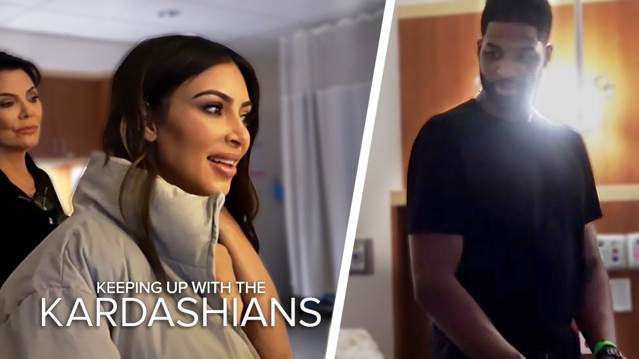 Kim And Tristan Thompson Come Face To Face In Khloe's Delivery Room | KUWTK | E! 4