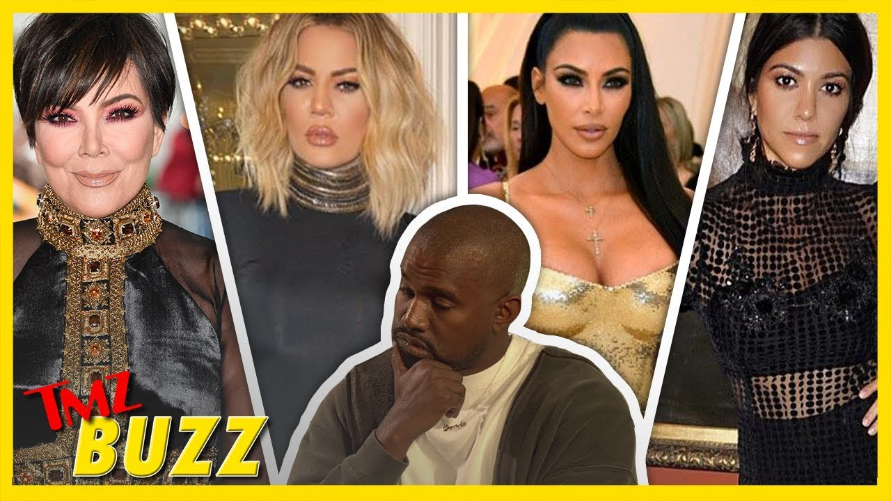 Which Kardashian Does Kanye Want In Bed? ALL OF THEM | TMZ BUZZ 1