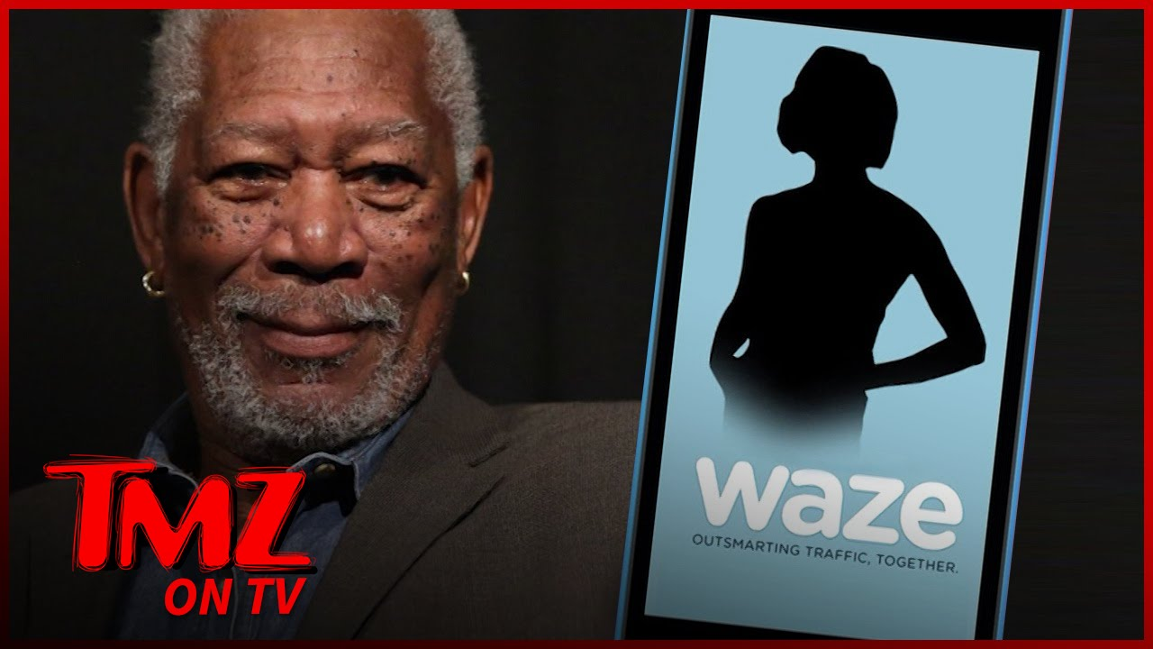 Morgan Freeman – New Navigation Voice Of Waze! | TMZ TV 3