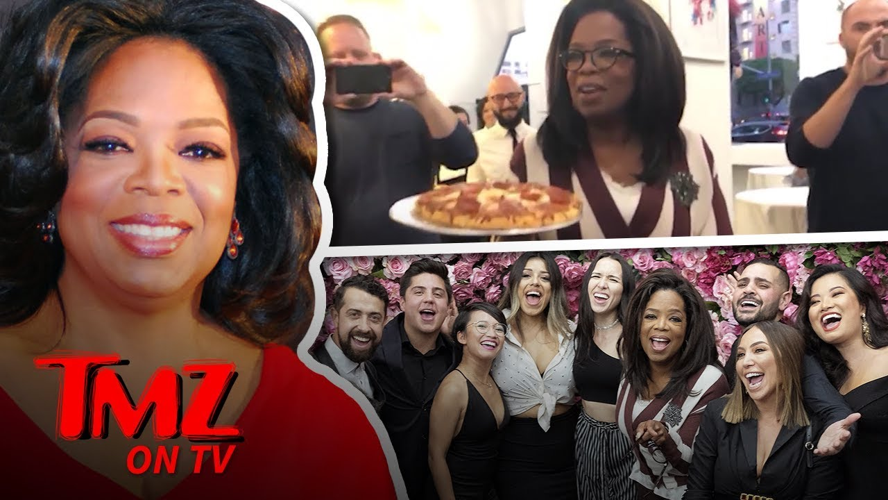 Oprah Brings Her Frozen Pizza's To 'Project Runway' Star | TMZ TV 4