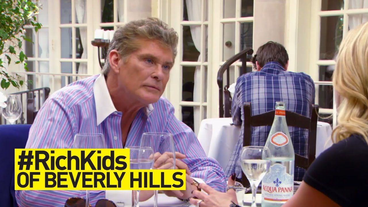 Taylor Seeks Fatherly Advice From David Hasselhoff | #RichKids of Beverly Hills | E! 4