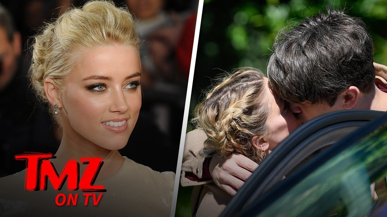 Amber Heard Packs on PDA with New BF Andy Muschietti | TMZ TV 4
