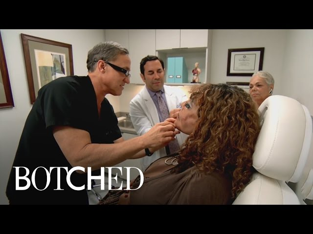 Terry Dubrow Hatches Plan to Take on Cement-Injected Face | Botched | E! 4