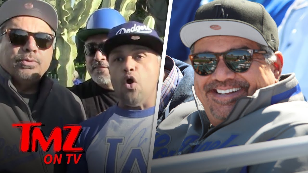 George Lopez Has A Fun Drunken Dodgers' Opening Day | TMZ TV 4