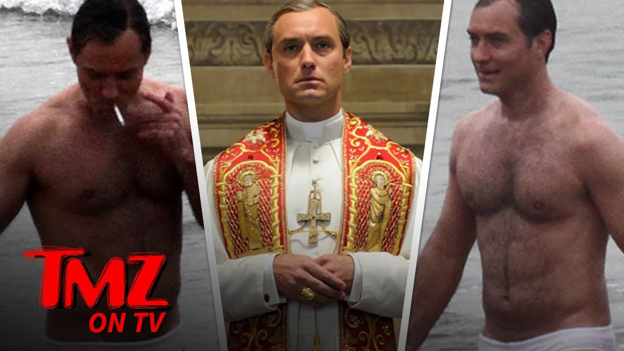 Jude Law Strips Down to Speedo, Gets Handsy with 'New Pope' Costar | TMZ TV 2