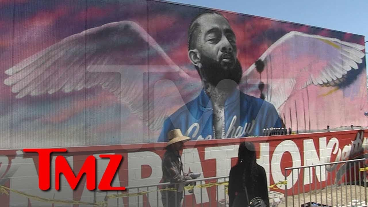New Nipsey Hussle Mural Goes Up In L.A. | TMZ 3