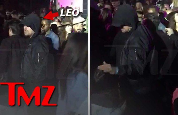 Leonardo DiCaprio Pets Lady's Head at Coachella After-Party | TMZ 1