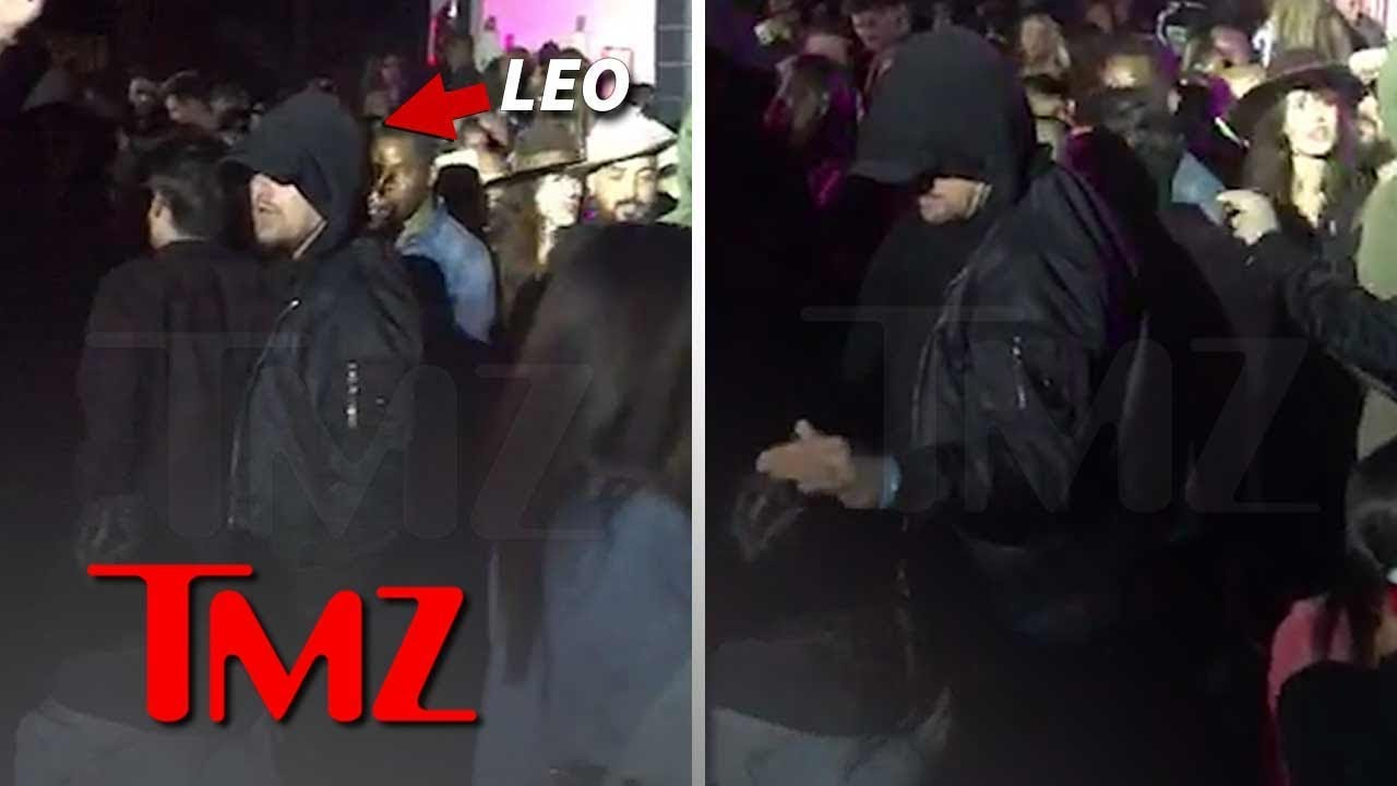 Leonardo DiCaprio Pets Lady's Head at Coachella After-Party | TMZ 2