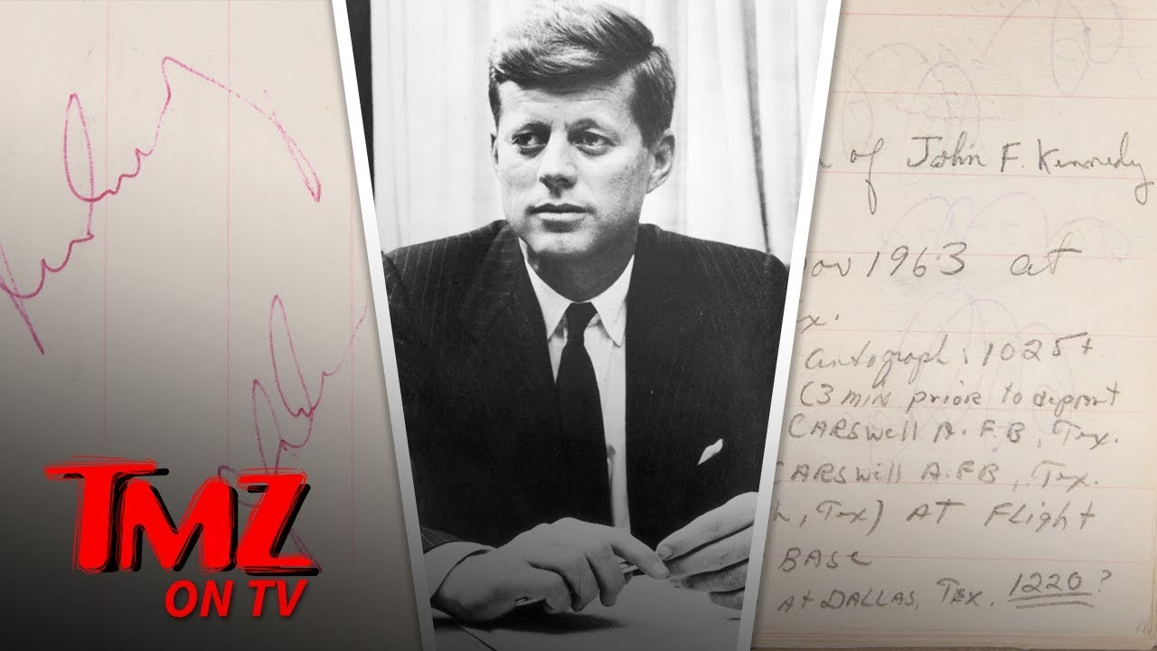 JFK's Last Autograph 2 Hours Before Assassination Hits Auction Block | TMZ TV 1