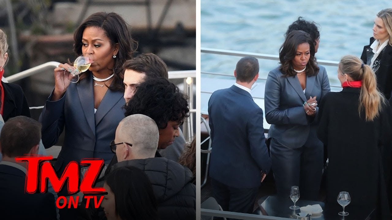 Michelle Obama on Paris Dinner Cruise During Notre Dame Cathedral Fire | TMZ TV 3
