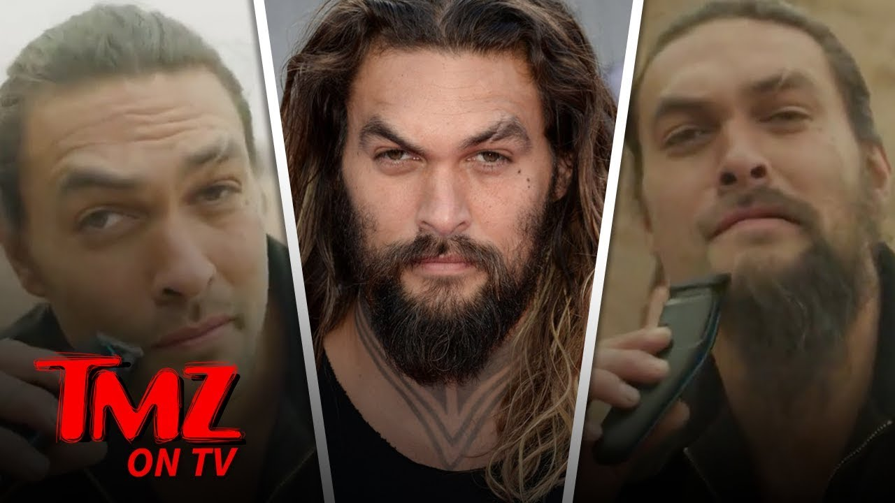Jason Mamoa SHAVES His Beard Off!! | TMZ TV 4