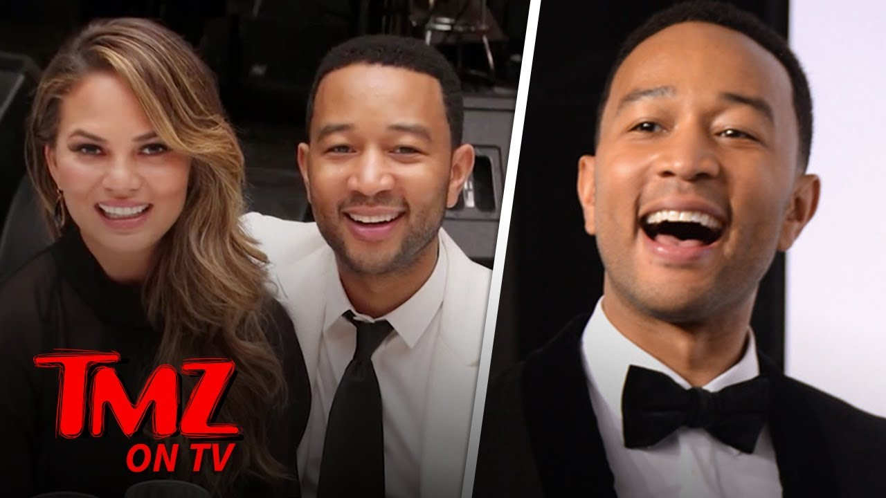 John Legend Disappoints Paps ...Where's Chrissy Teigen?! | TMZ TV 4
