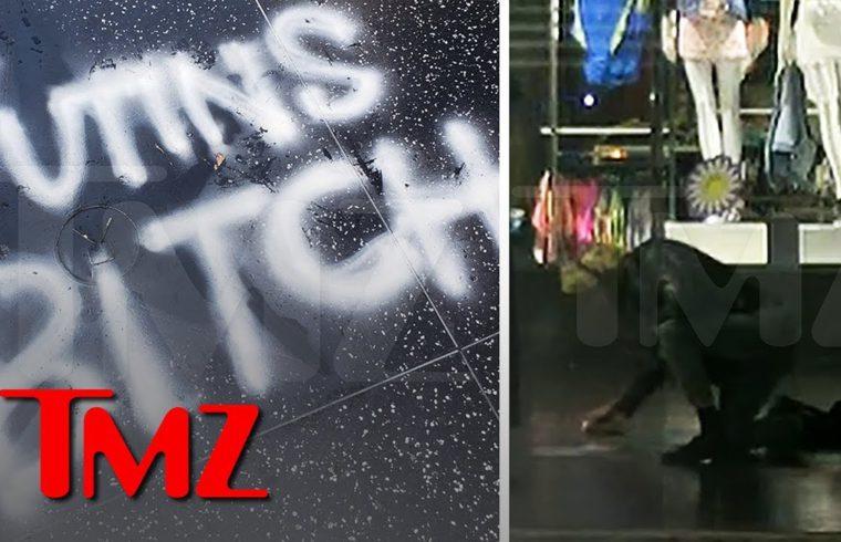 President Trump is 'Putin's Bitch' According to Vandalized Hollywood Star | TMZ 1